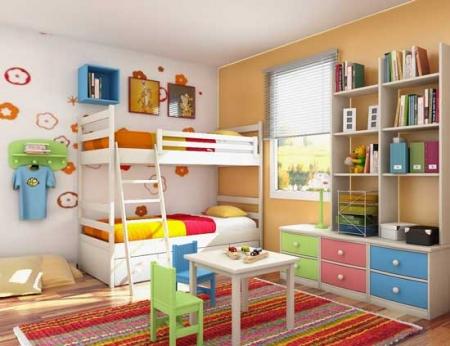 Bài trí nội thất hợp phong thủy cho phòng bé