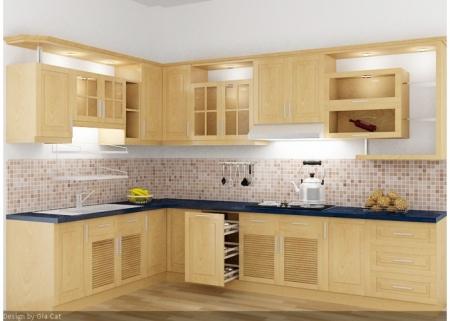 Tủ bếp gỗ sồi và cách phân biệt với các loại gỗ khác