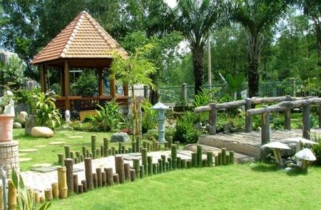 Không gian kiến trúc nhà vườn theo phong thủy