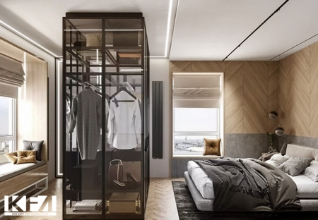 Mẫu thiết kế nội thất chung cư 2 phòng ngủ sang trọng