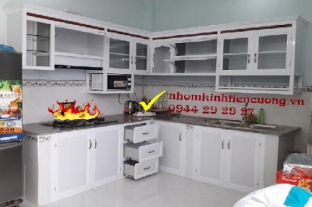 Những mẫu tủ bếp nhôm kính thông minh cao cấp đẹp - Tiến Cường