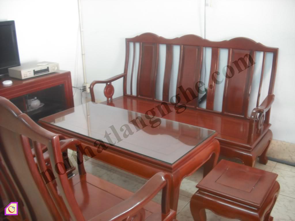 Bàn ghế phòng khách gỗ Gụ