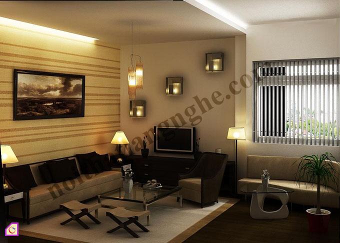 Mẫu phòng khách đẹp theo phong cách tân cổ điển