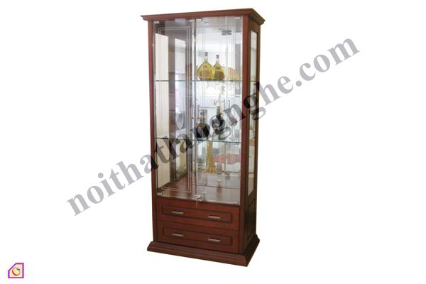 Tủ rượu gỗ kính TR_01