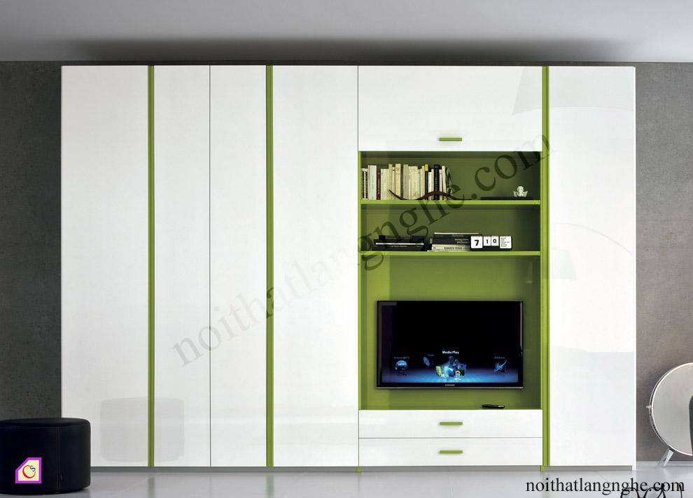 Bộ tủ quần áo kết hợp kệ tivi TAM_36