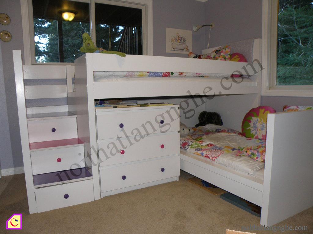 Giường tầng gỗ tự nhiên GT_35