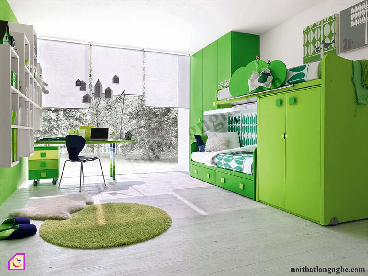 Bộ phòng ngủ xanh lá cây PNT_16