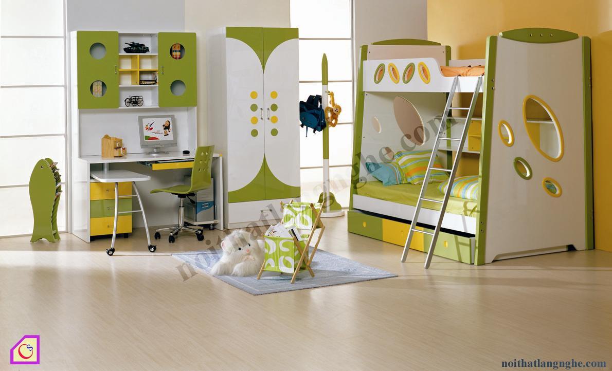 Bộ phòng ngủ kết hợp giường tầng PNT_25