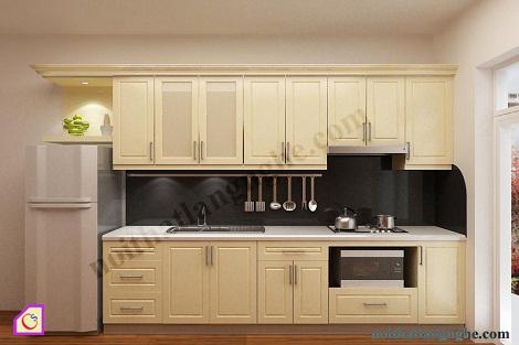 Tủ bếp gỗ Sồi chữ i TBI_18