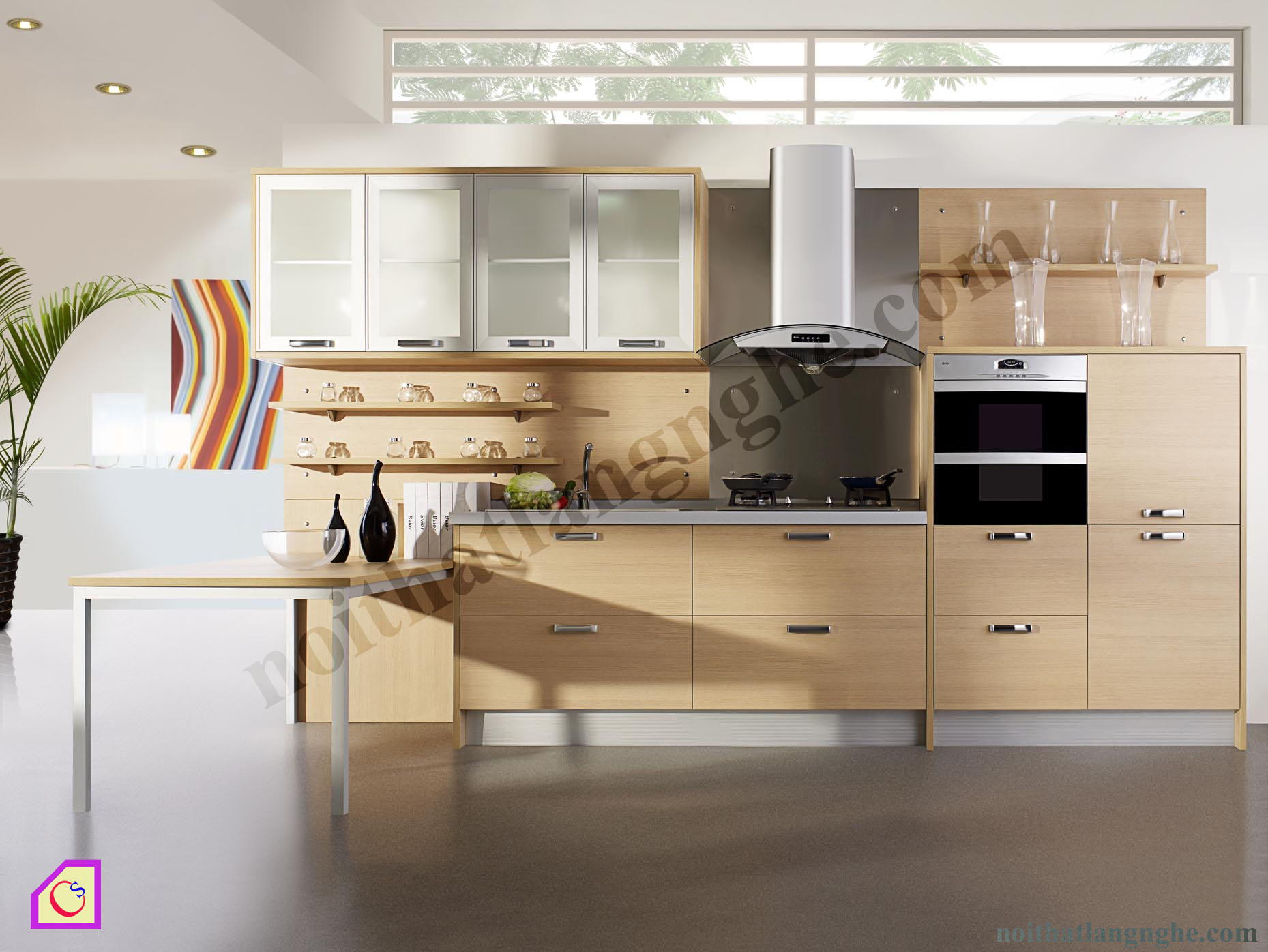 Tủ bếp Melamine dạng chữ I TBI_25