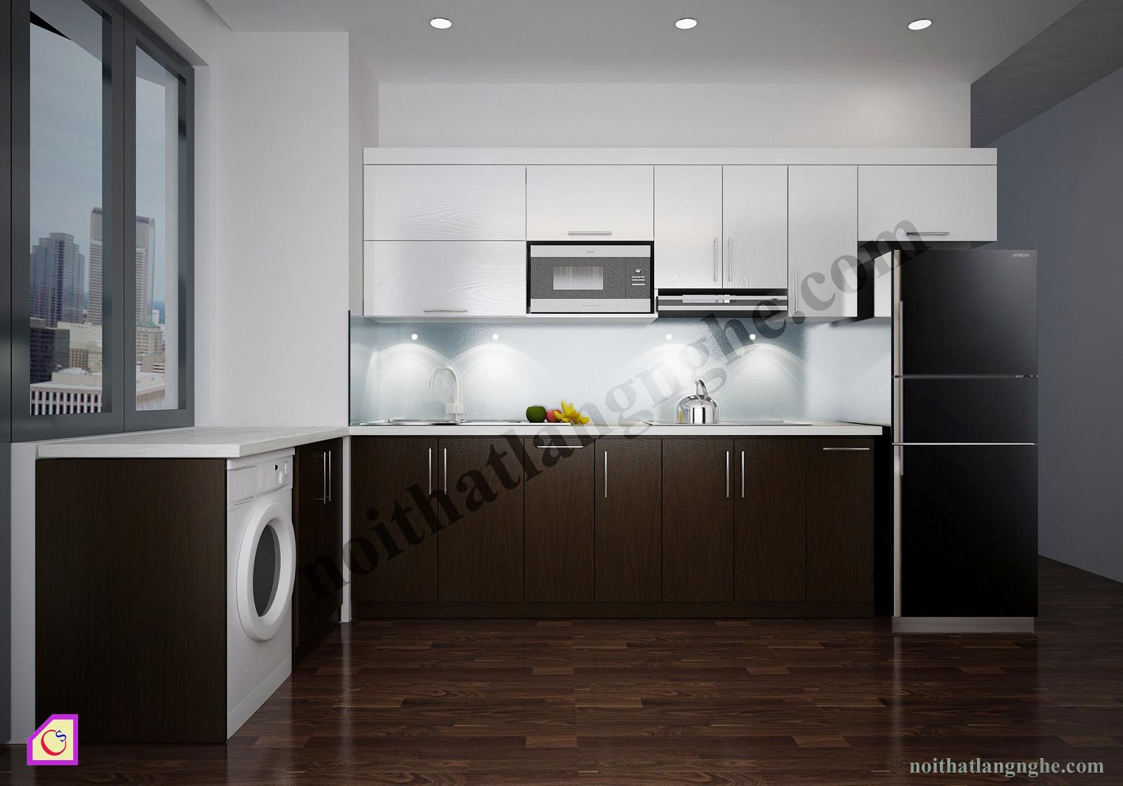 Tủ bếp Laminate dạng chữ L TBL_38