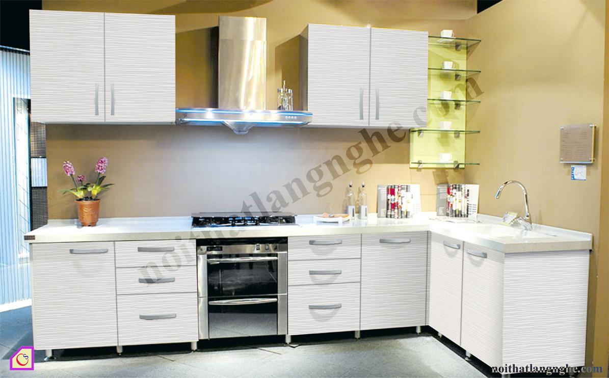Tủ bếp Melamine dạng chữ L TBL_40