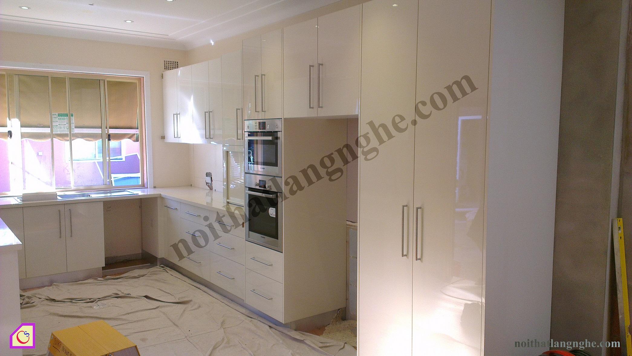Tủ bếp Laminate dạng chữ U TBU_22
