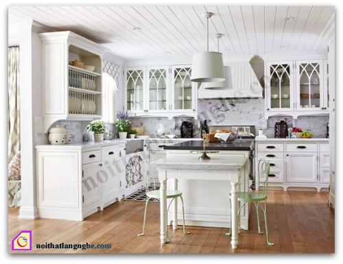 Tủ bếp gỗ Sồi có bàn đảo TBĐ_15