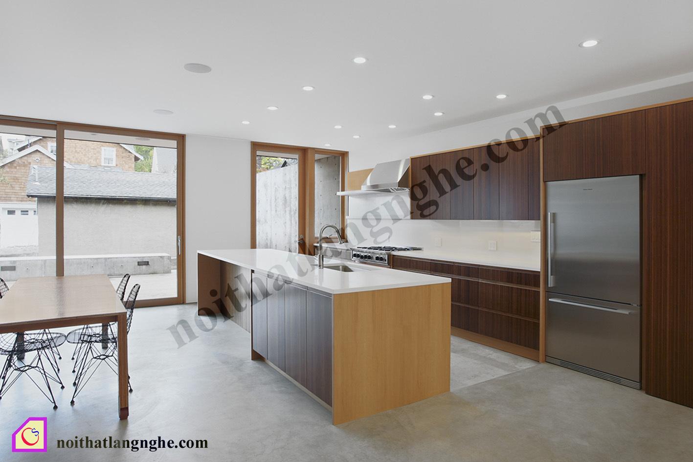 Tủ bếp Laminate có bàn đảo TBĐ_19