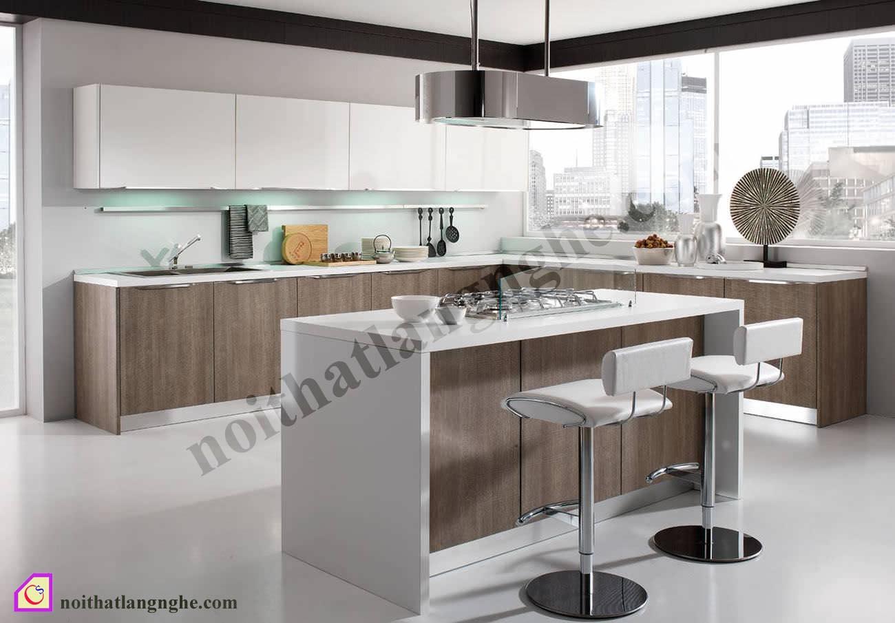 Tủ bếp Laminate có bàn đảo TBĐ_22