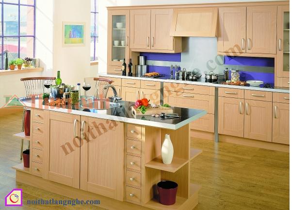 Tủ bếp Melamine hiện đại TBĐ_23