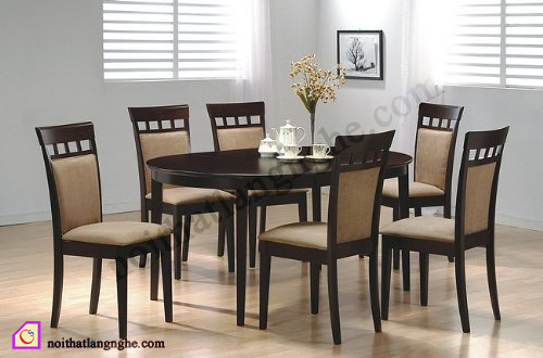 Bộ bàn ghế ăn 6 ghế BGA_01