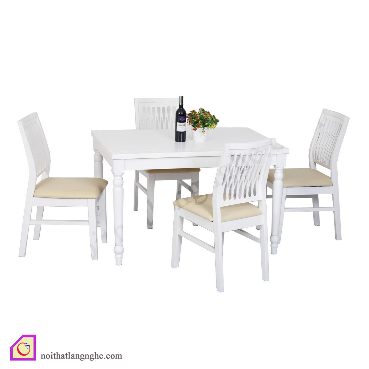 Bộ bàn ghế ăn 4 ghế BGA_03