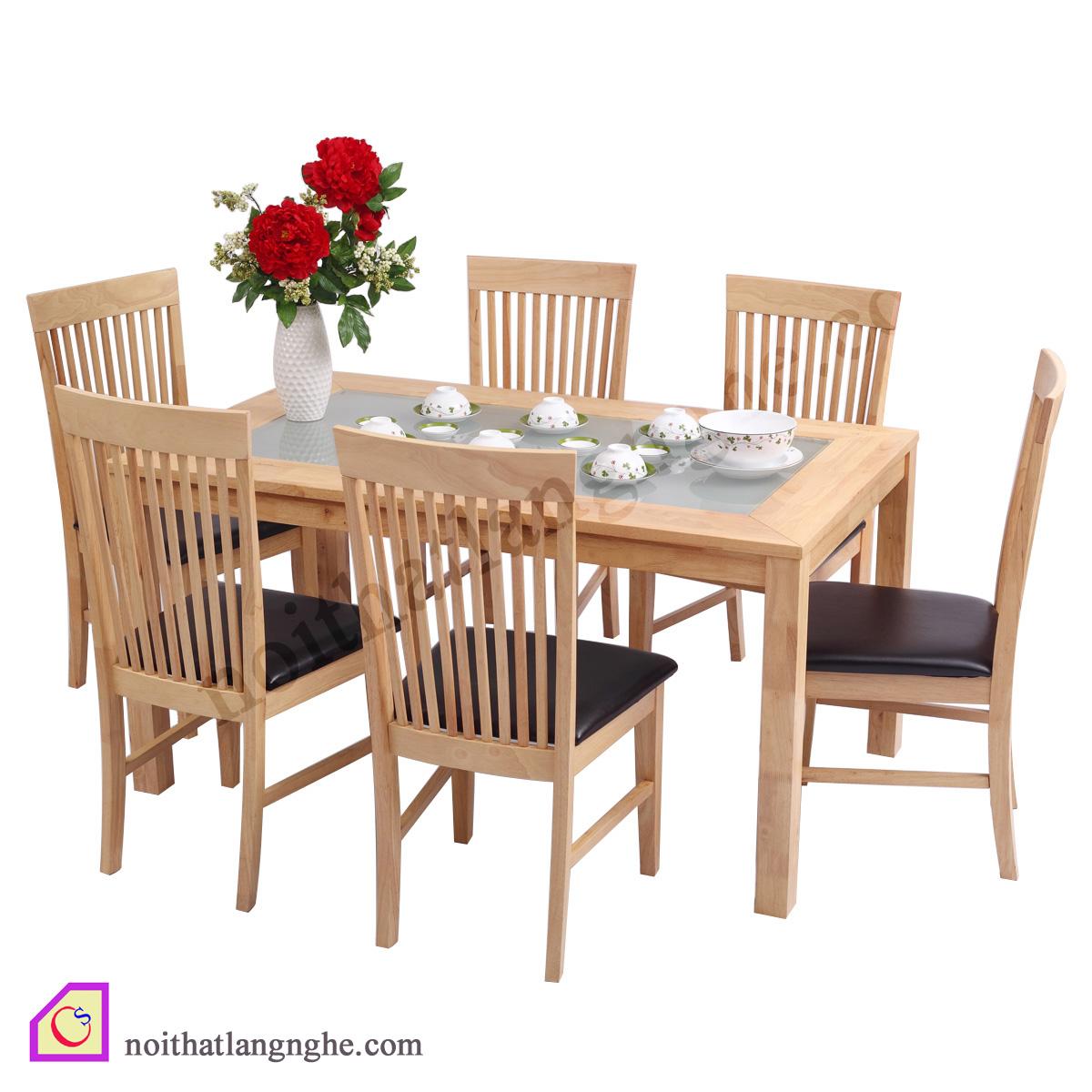 Bộ bàn ghế ăn Sồi Nga 6 ghế BGA_07