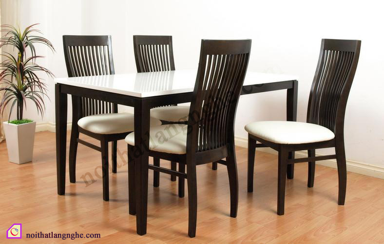 Bộ bàn ghế ăn 4 ghế BGA_08