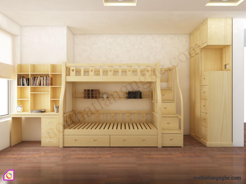 Giường tầng kết hợp phòng ngủ GT_43