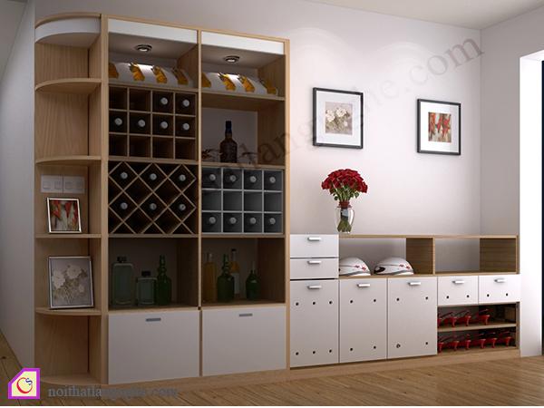 Tủ rượu kết hợp tủ giày TR_51