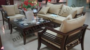 Bộ bàn ghế phòng khách gỗ Gụ BGPK_09