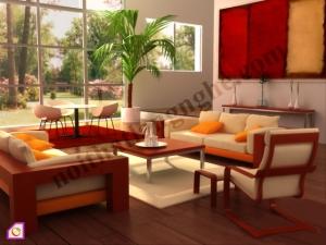 Bàn ghế phòng khách gỗ tự nhiên BGPK_11