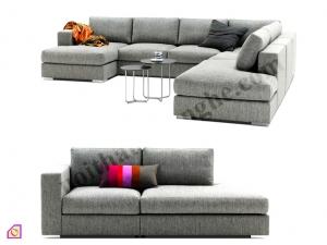 Sofa nỉ khung inox SFN_09