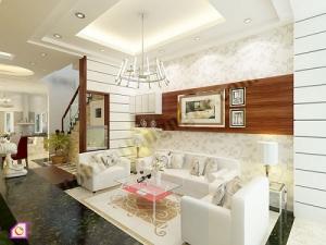 Mẫu phòng khách đẹp theo phong cách châu âu