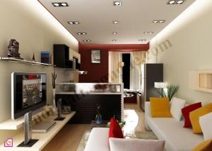 Mẫu phòng khách đẹp với căn phòng rực rỡ ánh sáng