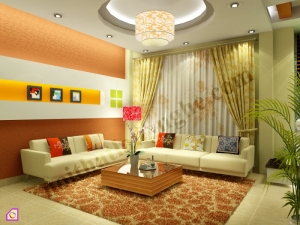Mẫu phòng khách đẹp:Mẫu phòng khách đẹp đầy màu sắc