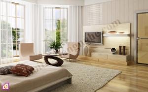 Mẫu phòng khách đẹp theo phong cách tối giản