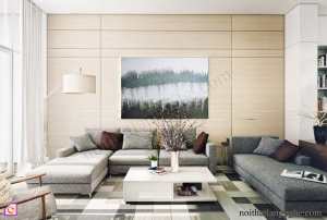 Mẫu phòng khách đẹp theo phong cách hiện đại