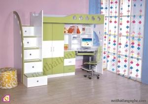 Giường tầng:Giường tầng kết hợp tủ quần áo GT_03
