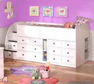 Giường tầng:Giường tầng kết hợp tủ đựng đồ GT_04