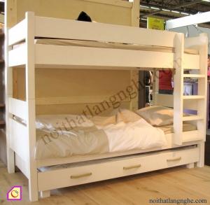 Nội thất trẻ em:Giường tầng gỗ Sồi GT_08