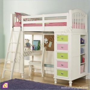 Nội thất trẻ em:Giường tầng kết hợp bàn học GT_11