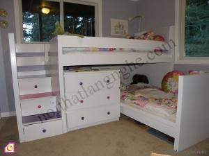 Giường tầng:Giường tầng gỗ tự nhiên GT_35