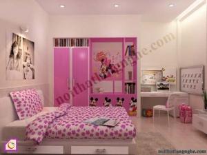 Nội thất trẻ em:Bộ phòng ngủ bé gái PNT_04