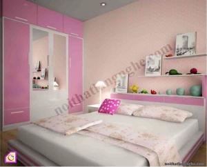 Nội thất trẻ em:Bộ phòng ngủ bé gái PNT_09