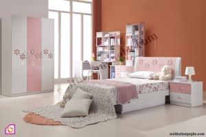 Nội thất trẻ em:Bộ phòng ngủ bé gái PNT_11