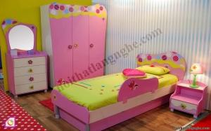 Nội thất trẻ em:Bộ phòng ngủ bé gái PNT_13