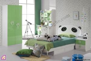 Phòng ngủ trẻ em:Bộ phòng ngủ gấu trúc cho bé trai PNT_29