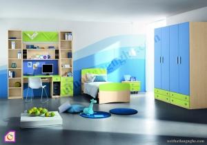 Phòng ngủ trẻ em:Bộ phòng ngủ cho bé trai PNT_32