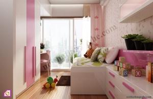 Bộ phòng ngủ cho bé gái PNT_38