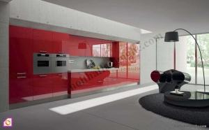 Nội thất phòng bếp:Tủ bếp Acrylic dạng chữ i TBI_01