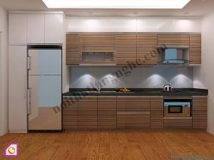 Tủ bếp dạng chữ I:Tủ bếp Laminate dạng chữ i TBI_12