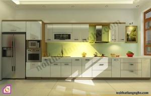 Tủ bếp dạng chữ I:Tủ bếp Acrylic dạng chữ i TBI_16